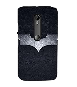Takkloo Super hero ( Symbol of a warrior, bat, nice symbol, Black Background, Silver bat) Printed Designer Back Case Cover for Motorola Moto G Turbo Edition :: Virat FanBox Moto G Turbo Virat Kohli