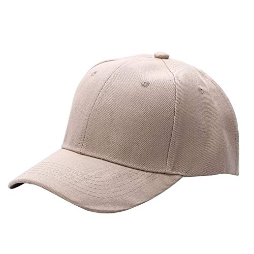 7253a436ccce1 JJJRMP Men Women Fashion Baseball Cap Hip-Hop Adjustable Peaked Hat Solid  Unisex Curved Visor