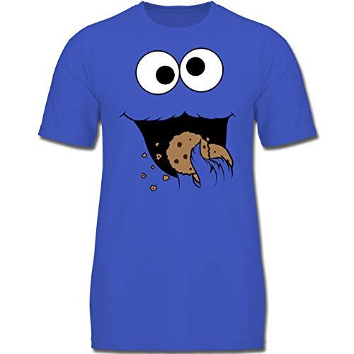 Karneval & Fasching Kinder - Keks-Monster - 104 (3-4 Jahre) - Royalblau - F130K - Jungen Kinder T-Shirt