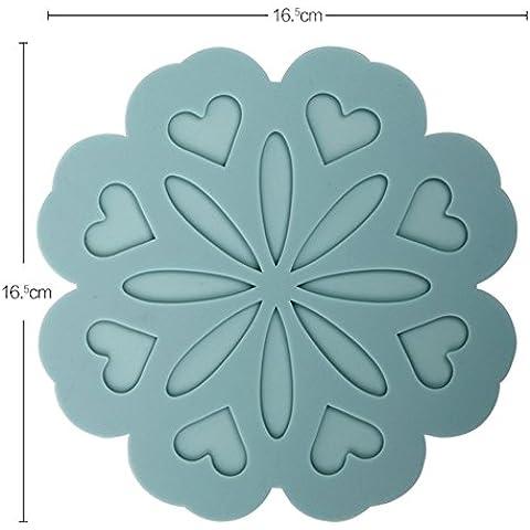 pad caldo/ evitare stireria stuoia/Silicone tovagliette/ pentola/ Western pad-D 16x16cm(6x6inch) - Pad Lemonade