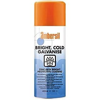 30292-AA AMBERSIL BRIGHT COLD GALVANISE ZINC-RICH PROTECTIVE COATING - WEATHERS NATURALLY 400ML AEROSOL
