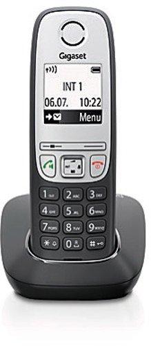 Gigaset A415 Telefon - Schnurlostelefon/Mobilteil mit Grafik Display - Dect-Telefon mit Freisprechfunktion - Analog Telefon - Schwarz