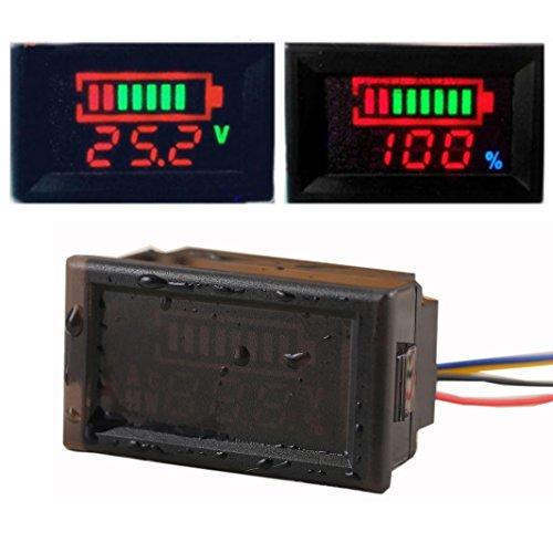 Geree tragbar 7 in1 OLED Multimeter Ampere Spannung Kapazität Power Energie Run Time Temperatur Monitor DC 33 V 3 A Amperemeter Voltmeter Watt Meter 99 W 10000 WH 100 Ah Mikro-Tester, Voltage tester,