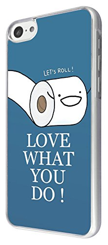 Toilettenhilfe 323-Funny Paper Love What you do Design iphone 5C Hülle Fashion Trend Case Schutz Cover Metall und Kunststoff