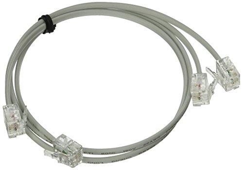 Sourcingmap Telefon-Verlängerungskabel, RJ116P2C zu RJ11-Modul, 50cm -weiß (2Stück) (Telefon-verlängerungskabel 50)
