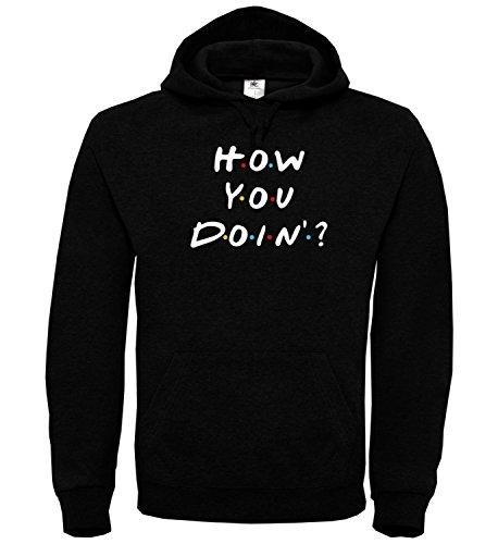 How You Doin Friends Tv Show Joe Black Unisex Hoodie Kapuzen Kapuzenpullover Damen Herren Pullie Sweater Hoody Birthday Gift Wear Men's Women's Unisex SM Hoodie Tv-shows Tage Unseres Lebens