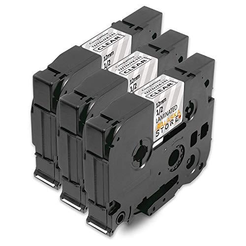 3x Nastro Cassette Brother TZe-131 TZ 131 Etichette Nero su chiaro Tze Tape 12mm x 8m per Brother P-Touch PT-H100LB PT-H100R PT-1005 PT-1010