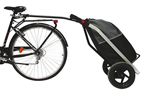 BIKE ORIGINAL Einkaufstrolley für Erwachsene, Schwarz/Grau