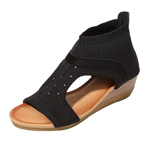 big Ethnische Stil Sandalen Römische Schuhe Plattform Keil Sandalen Gladiator Schuhe ()