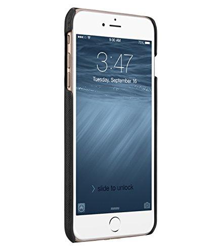 Apple Iphone 7 Melkco Elite-Serie Premium Leder-Snap zurück Tasche Tasche mit Premium-Leder Handgefertigte gute Schutz, Premium Feel-Tan Black Cross-Muster PU-1