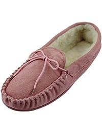 Shepard Annie 492-5236 - Zapatillas de casa de ante para mujer, Marron - Camel, 37