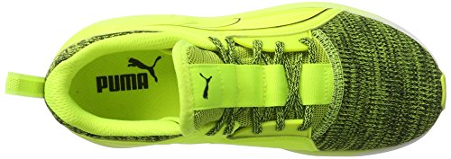 Puma Fierce Lace Knit Wn's, Scarpe Sportive Indoor Donna Giallo (Safety Yellow-puma White 02)