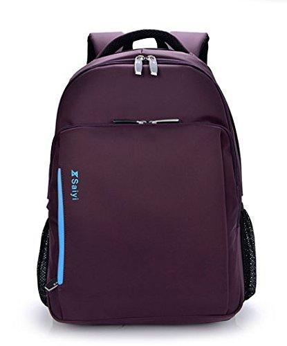 LINGE-15 Zoll Laptop Tasche Multi-Funktions-Rucksack Business und Freizeit Reisen wasserdichte gepolsterte Fächer für Männer und Frauen Sport Purple