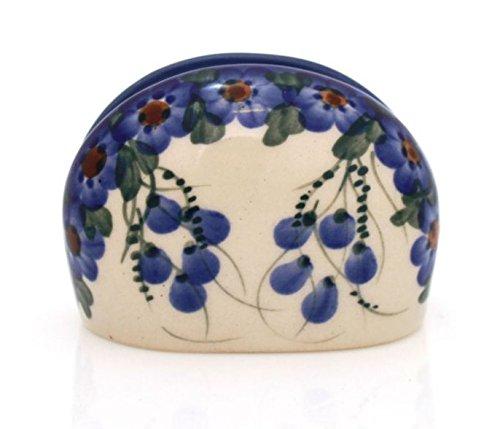 BCV Classic Boleslawiec, Polish Pottery Hand Painted Ceramic Napkin/Serviette Holder (U-001)