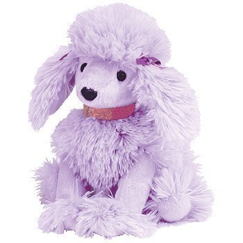 1 X Ty Beanie Babies - Demure Purple Poodle Puppy Dog by Beanie Babies - Dogs