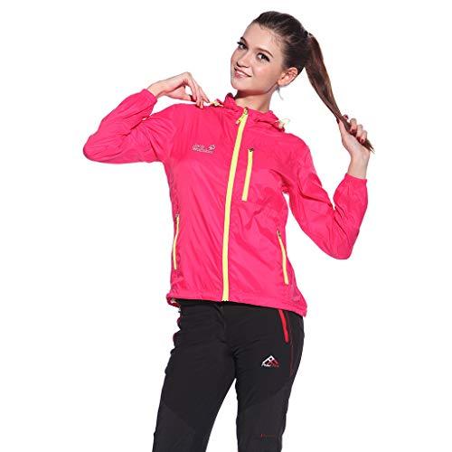 BfmyxgsStilvolle Nylongewebe Starke Kapuze Trenchcoat Reißverschlusstasche, elastische Manschetten für den Sport -
