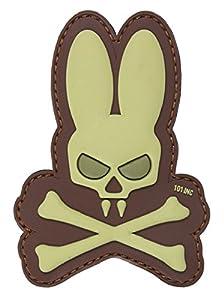 Patch Ecusson 3d Pvc Velcro Marron Skull Tete De Mort Crane Bunny Lapin Tan Kza-e-s-878 / 444130-5139 Deco Airsoft