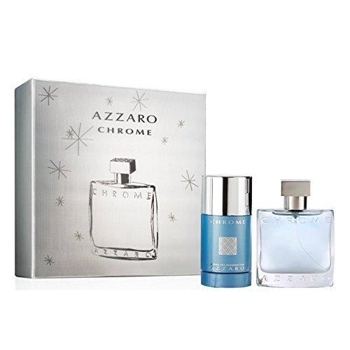 AZZAR0 Chrome Eau de Toilette 50 ml + Deodorant Stick 75 ml im Set