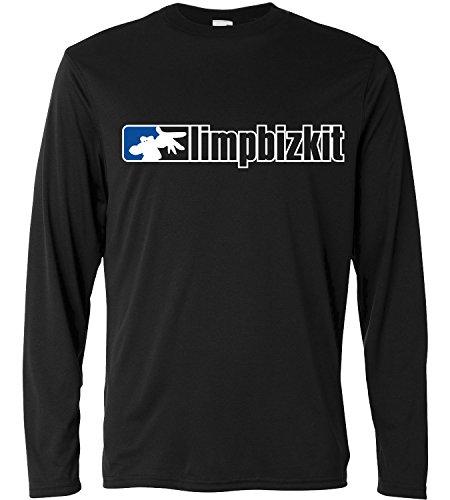 T-shirt a manica lunga Uomo - Limp Bizkit - classic logo blue corner - Long Sleeve 100% cotone LaMAGLIERIA, S, Nero
