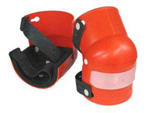 Knieschoner mit Gelenk orange PVC-Hartschale