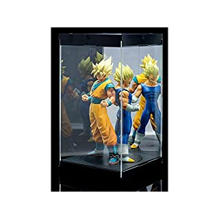 Master Revolving House Acrylic Display Case with Lighting for 1/8 and 1/9 Action