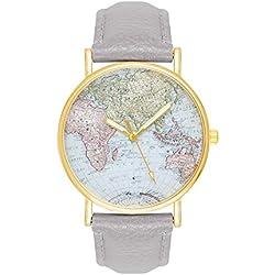 Map Globe World Map Grey Gold Women's Watch World Map Women's Watch Blogger Blogg Eruhr MINGBO Hipster Trend World Map MINGBO Rose Flower Rose Gold Quartz Bracelet Watch Quartz