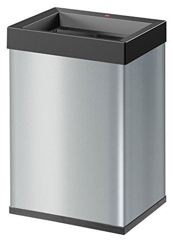 Hailo Big-Box Quick L Mülleimer (35 Liter, extra große Einwurföffnung, Müllbeutel-Klemmrahmen) 0840-221