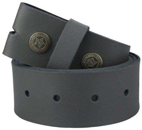 2Store24 Cinturón de cuero sin hebilla | Cinturón para hebillas en gris oscuro| Tamaño de la cintura: 105cm