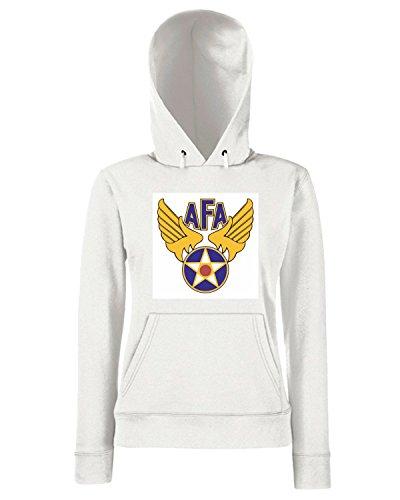 T-Shirtshock - Sweats a capuche Femme TM0366 AFA usa Blanc