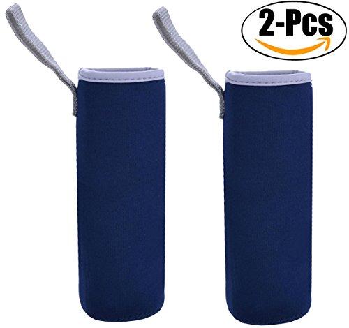 Outgeek Glasflaschen-Hülse, 2 Satz Wasser-Flaschenhalter Neopren-Fördermaschine, Muti-Color