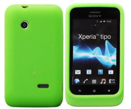 Luxburg® In-Colour Design Schutzhülle für Sony XPERIA Tipo in Farbe Hellgrün / Grün, Hülle Case aus Silikon