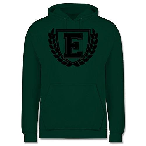 Anfangsbuchstaben - E Collegestyle - Männer Premium Kapuzenpullover / Hoodie Dunkelgrün