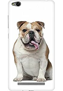 AMEZ designer printed 3d premium high quality back case cover for Xiaomi Redmi 3S (Pug Stupid)