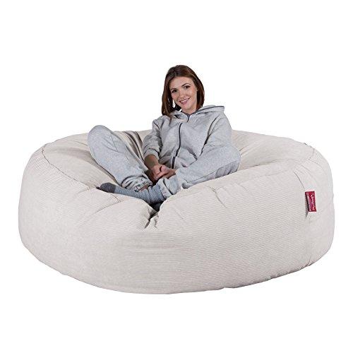 Lounge Pug®, \'Mega-Mammoth\' Sofa Sitzsack XXL, Schlafsofa, Nadelstreifencord Stein