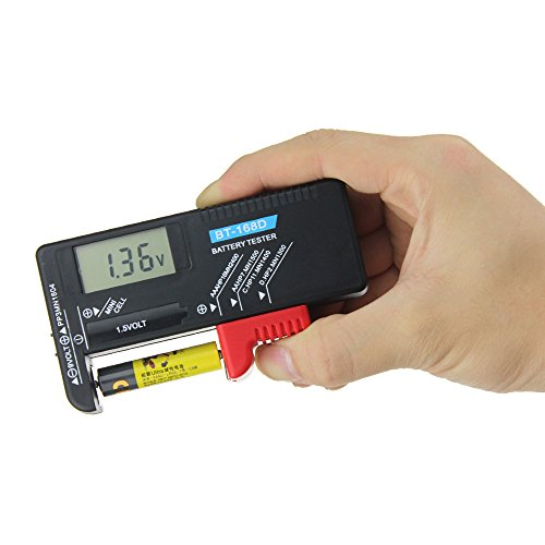 ctlite Akku Tester, Universal Digital Akku Volt Checker für AA AAA C D 9V 1.5V Knopfzelle