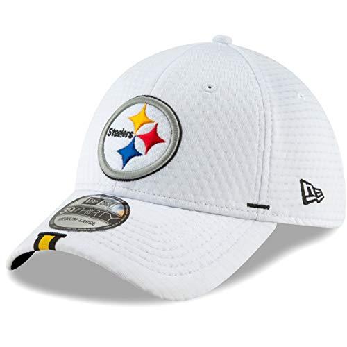 New Era - NFL Pittsburgh Steelers On Field 2019 Training 39Thirty Cap - Weiß Größe L-XL