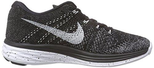 NikeFlyknit Lunar3 - Scarpe Running Donna Nero (Schwarz (Black/White-Mdnght Fog-Wlf Gry 001))