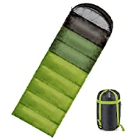 ieGeek Sleeping Bag Warm 350g Filling Envelope Lightweight & Breathable Sleep Sack With Compression Carry Bag For 4 Season Camping, Travelling, Hiking, Backpacking (Green) 16