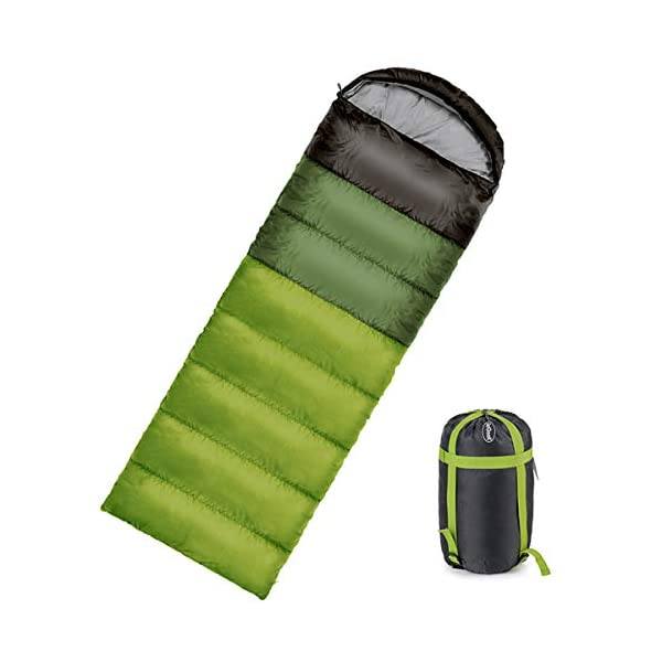 ieGeek Sleeping Bag, Ultra-light Outdoor Sleeping Bag, 220 x 75 cm, Easy to Carry, Lightweight, Compact, 4 Seasons for… 1