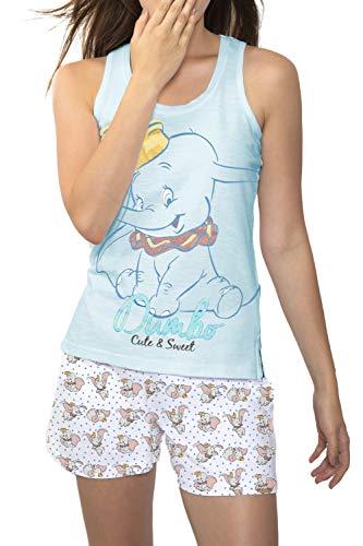 Disney Dumbo Schlafanzug für Damen, 50890-0, Blau, 50890-0 M