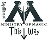 Top Stickers !  Sticker WC Ministry of Magic This Way - Harry Potter - Autocollant HD...