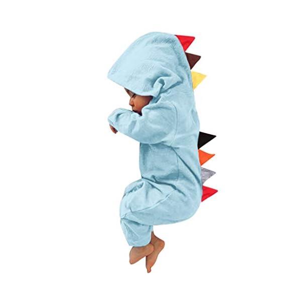 HAOHEYOU Ropa para BebéS,0-24 Meses ReciéN Nacido Infantil Bebé NiñO Chicas Dinosaurio Estilo Labor De Retazos Mameluco… 3