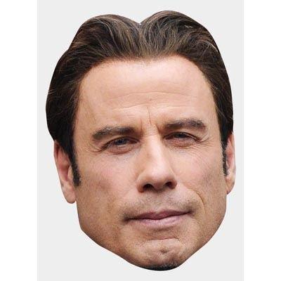 John Travolta Maske aus Pappe (21 National Kostüme)