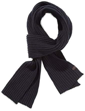TOM TAILOR Herren Schal rib scarf/312, Einfarbig, Gr. One size, Blau (navy)