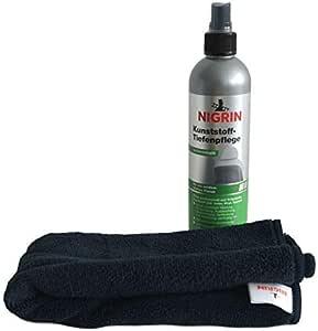 Nigrin Kunststoff Tiefenpflege Seidenmatt 300ml Spray Tiefenpfleger Mikrofaser Tuch Auto