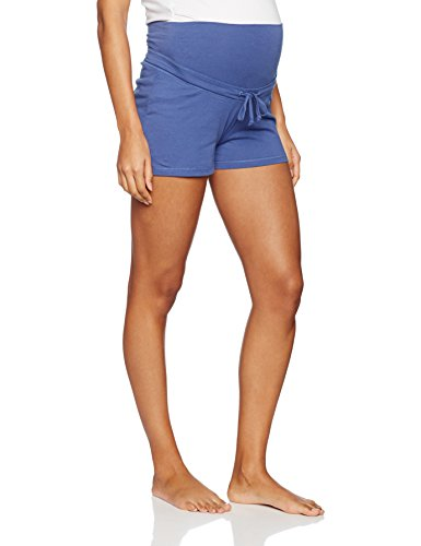 Bellybutton Maternity Damen Unterhose Aline-Schlafanzughose Kurz, Blau (True 3580), 34 (Herstellergröße: XS)