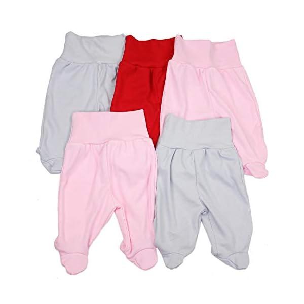 TupTam Pantalón con Pies de Bebé Paquete de 5 pies 1