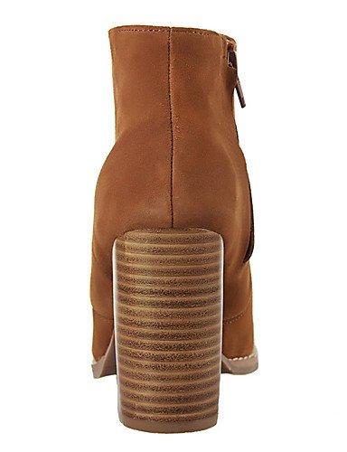 WSS 2016 Chaussures Femme-Extérieure / Bureau & Travail / Soirée & Evénement-Noir / Marron / Rouge / Gris / Kaki-Talon Compensé-Talons / Bout khaki-us5 / eu35 / uk3 / cn34