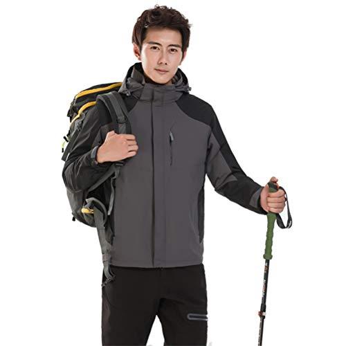 SJZC Veste Coupe Homme Ski Manteau Hommes Blouson De Impermeable Vent Pas Cher Hivers Pluie Survetement022,Gray,XL