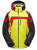 Spyder Titan Jacket Herren Skijacke gelb schwarz rot (L)